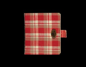 circa 1942: Still life of Anne Frank's red plaid diary, her first journal, in which she wrote from 1942 to 1944. (Photo by Anne Frank Fonds - Basel via Getty Images)